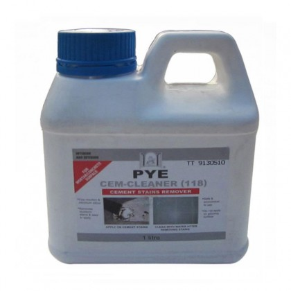 PYE CEM-CLEANER Cement Stains Remover Tile Cleaner 1L