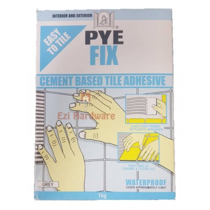Cement Based Waterproof Tile Adhensive (Interior & Exterior) PYE Fix 1kg